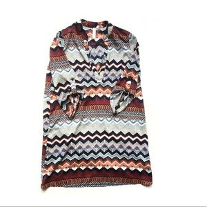 FREE PEOPLE Lovely Day Tunic Aztec Print